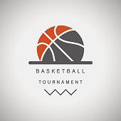 Basketball tournament logo