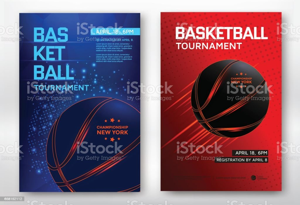 Basketball tournament poster vector art illustration
