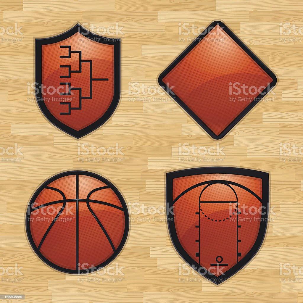 Basketball Tournament Shields vector art illustration