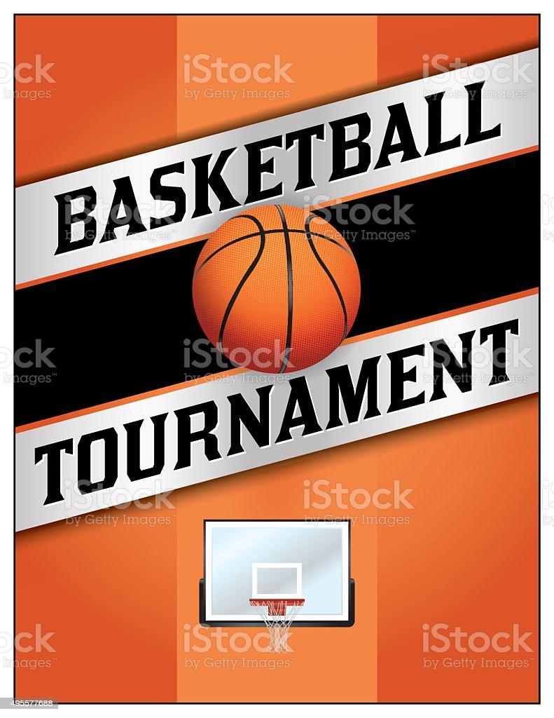 Basketball Tournamet Flyer Poster Illustration vector art illustration
