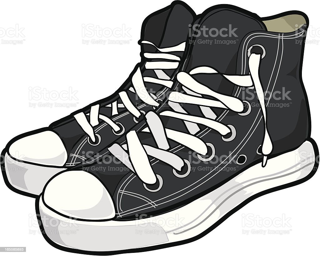 Basketball Trainers/Sneakers vector art illustration