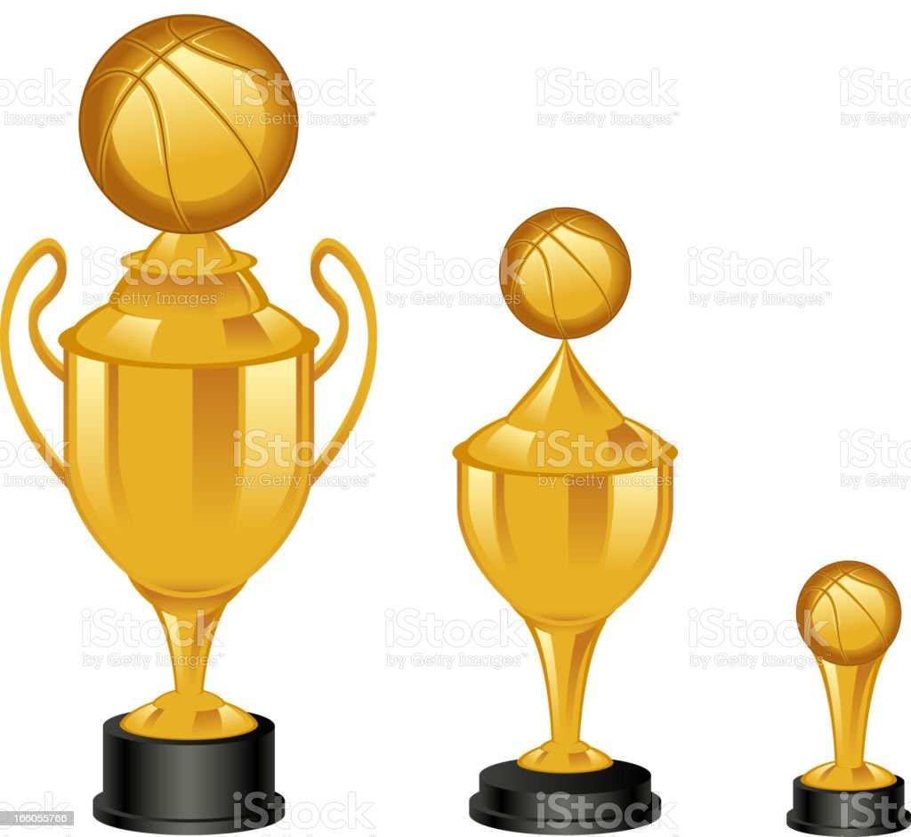 basketball trophy vector art illustration