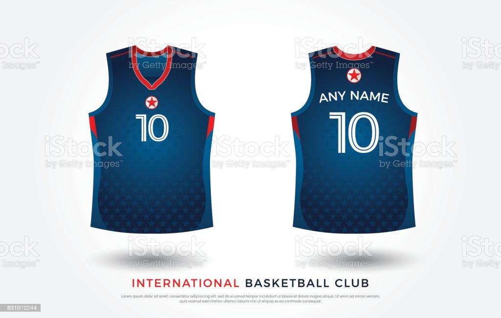 Basketball Tshirt Design Uniform Set Of Kit Basketball Jersey