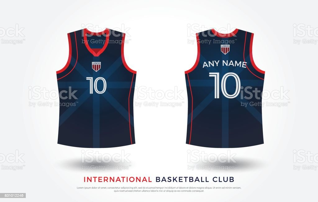 basketball t-shirt design uniform set of kit. basketball jersey...