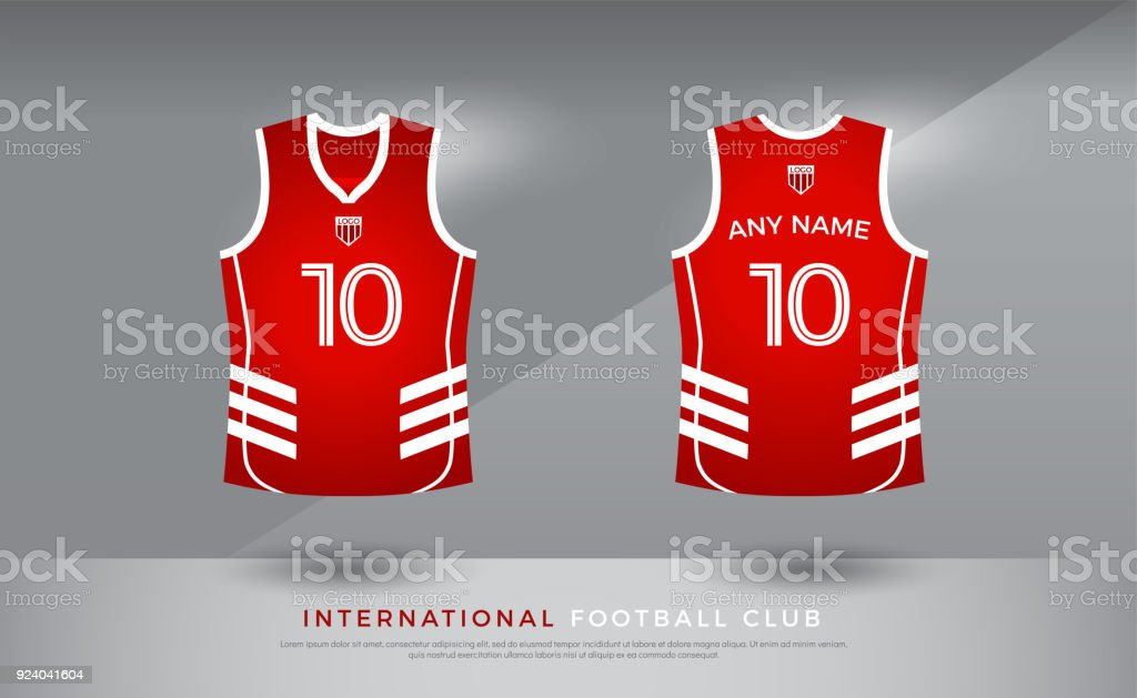 ab40a2835bb9 Basketball t-shirt design uniform set of kit. basketball jersey template.  red and white color