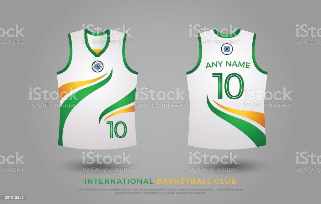 379cd43cda72 Basketball Tshirt Design Uniform Set Of Kit Basketball Jersey ...
