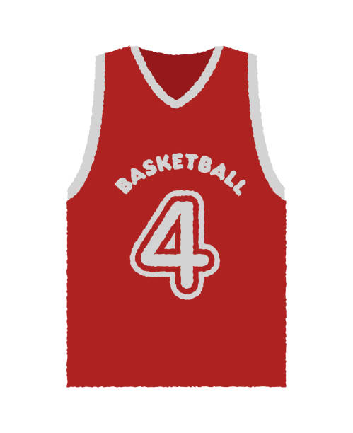 32de12f8037 Top 60 Drawing Of A Basketball Jerseys Clip Art, Vector Graphics and ...