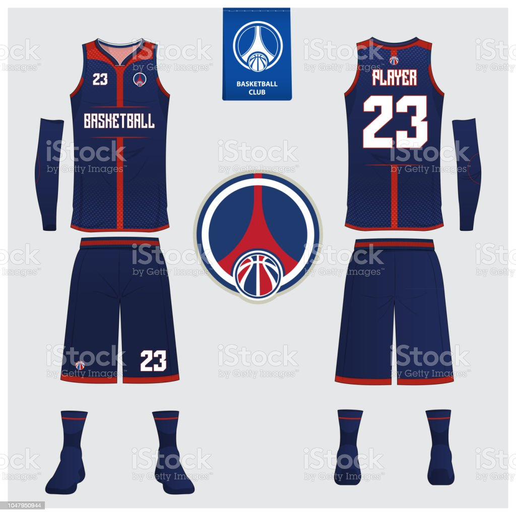 Basketball Uniform Or Sport Jersey Shorts Socks Template For