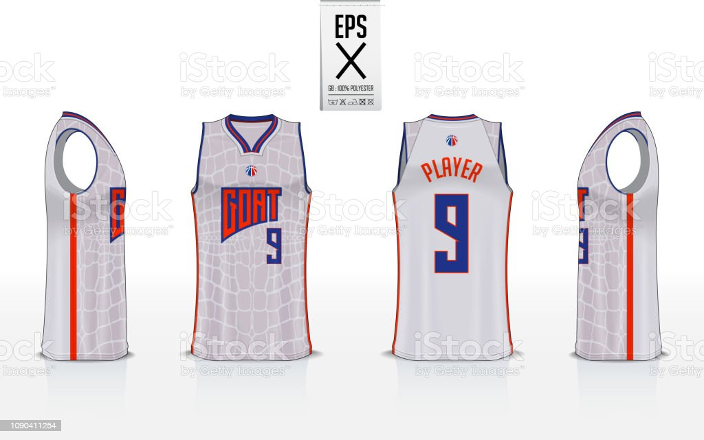 Basketball Uniform Template Design For Basketball Club Tank Top