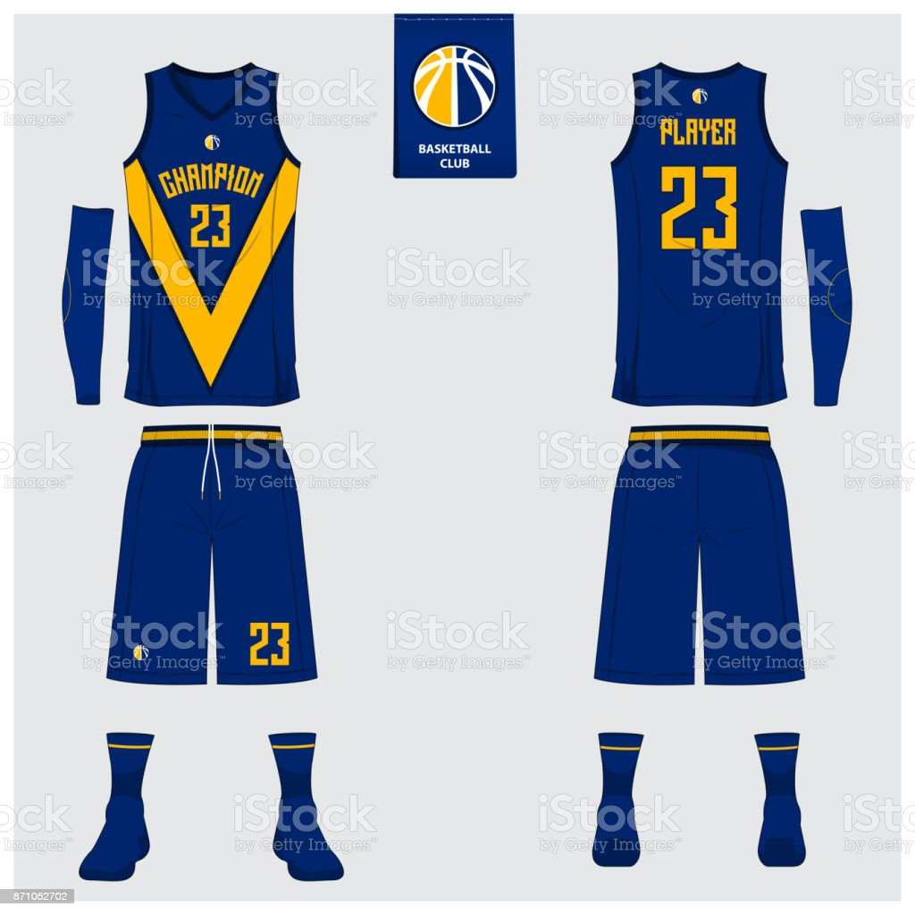 Basketball Uniform Template Design Tank Top Tshirt Mockup For ...