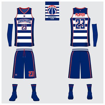 Download Basketball Uniform Template Design Tank Top Tshirt Mockup ...