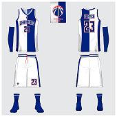 b8a4dfd262dd ... Basketball uniform template design. Tank top t-shirt mockup for  basketball club. Front