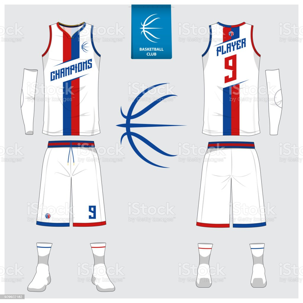 Basketball uniform vector art illustration