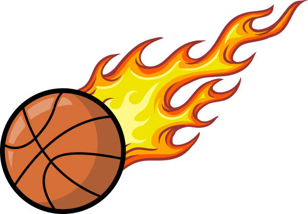 71 Cartoon Of A Basketball On Fire Illustrations Royalty Free Vector Graphics Clip Art Istock
