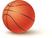 a realistic basketball illustration.