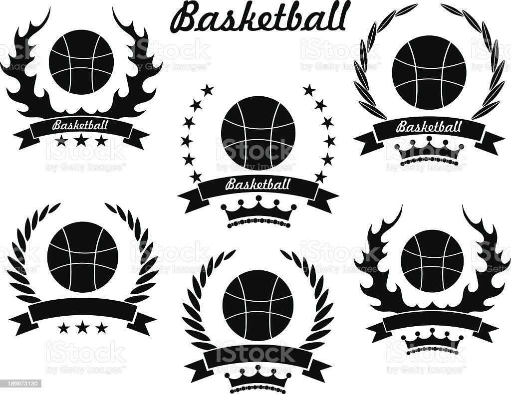 Basketball royalty-free stock vector art