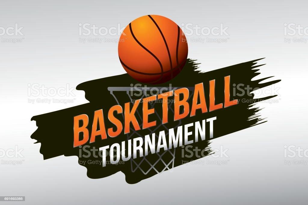 basketball vector art illustration