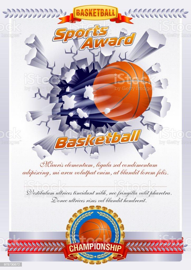Basketball  - Lizenzfrei Auszeichnung Vektorgrafik