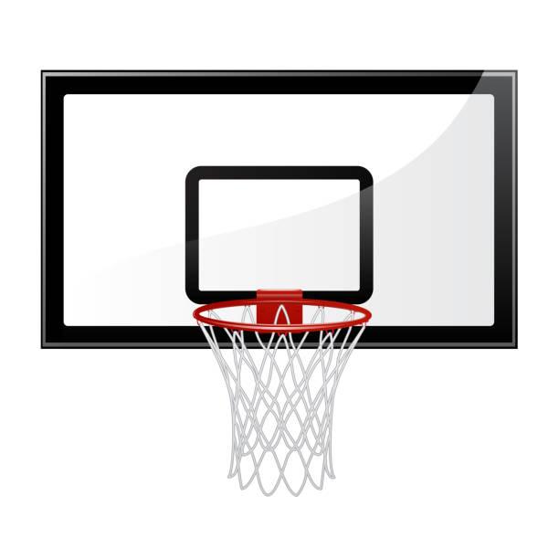 ilustraciones, imágenes clip art, dibujos animados e iconos de stock de ilustración de vector de baloncesto - basketball hoop