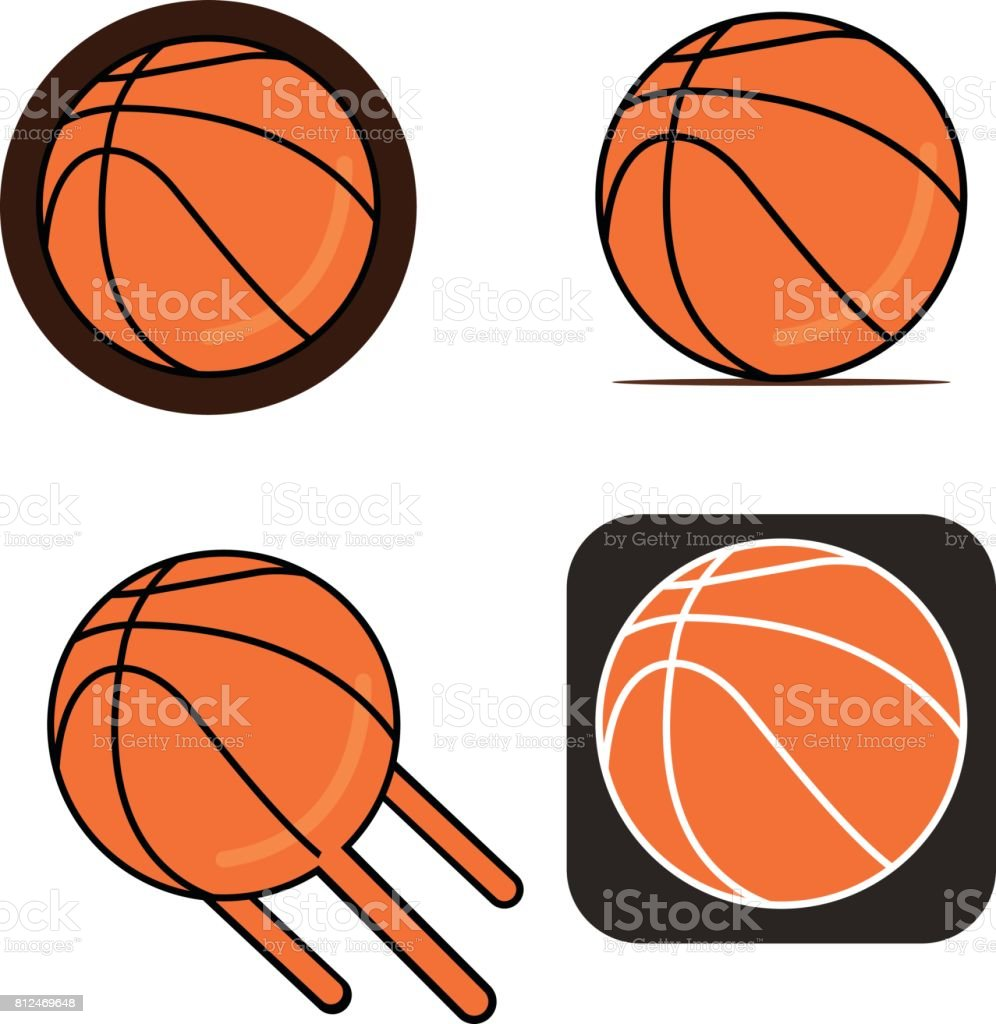 basketball vector on white backgroundbasketball logo vector rh istockphoto com basketball hoop vector art basketball net vector art
