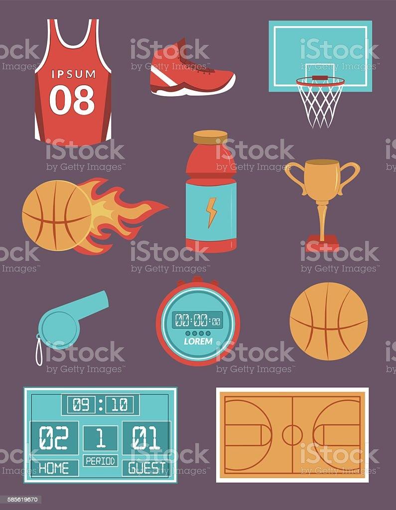 Basketball Vector Set vector art illustration