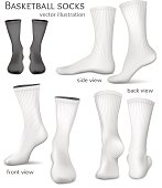 Basketball vector socks.
