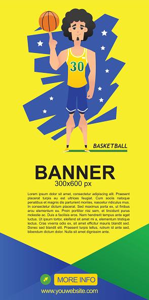Basketball web banner vector design