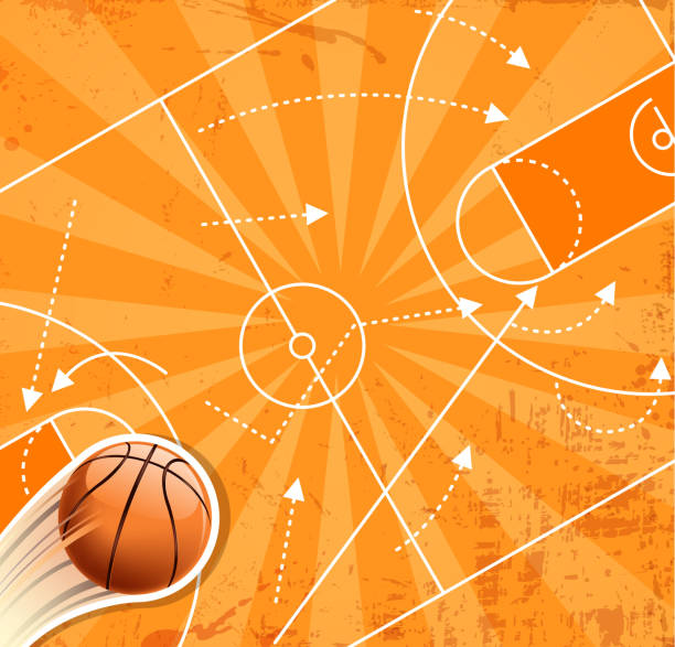basketball winner planning vector art illustration