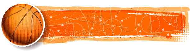 basketball winning planning drawing of vector blank basketball banner.This file was recorded with adobe illustrator cs4 transparent.EPS10 format. basketball stock illustrations