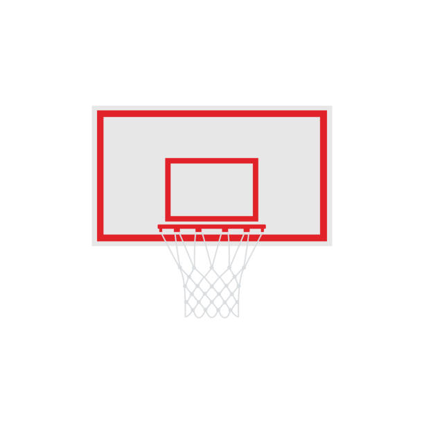 Basketball with hoop. Vector illustration isolated on white background Basketball with hoop. Vector illustration isolated on white background basketball hoop stock illustrations