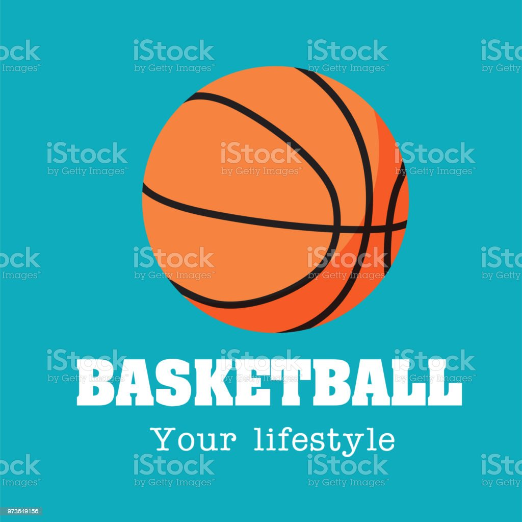 Basketball Your Lifestyle Basketball Background Vector Image