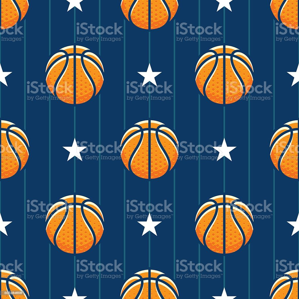 basketball_pattern vector art illustration