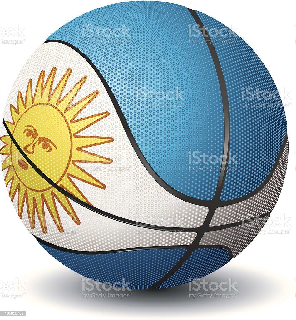 Basketball-Argentina royalty-free stock vector art