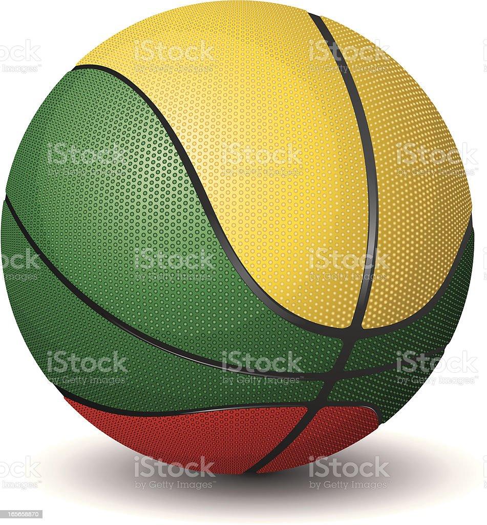 Basketball-Lithuania royalty-free stock vector art