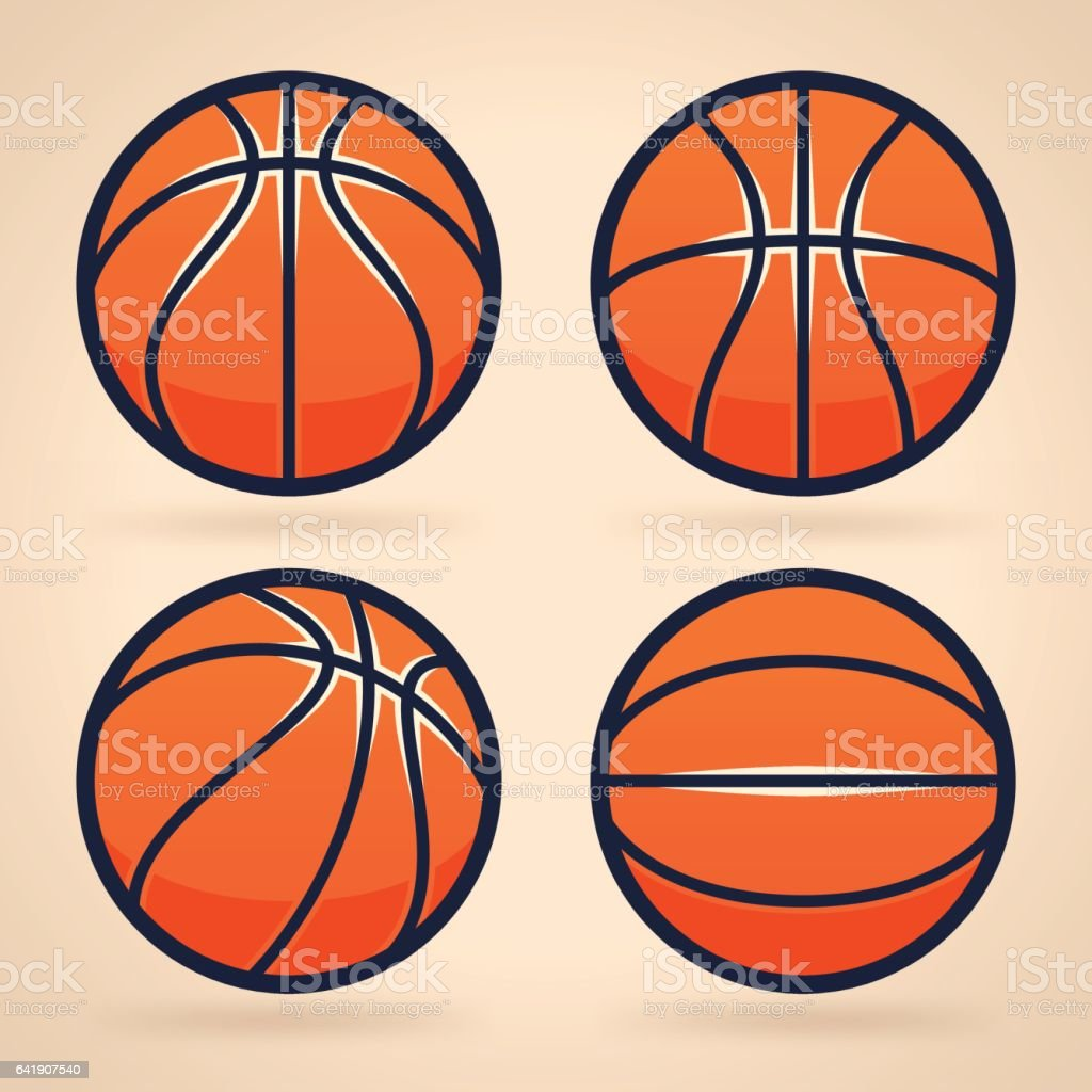 Basketballs vector art illustration