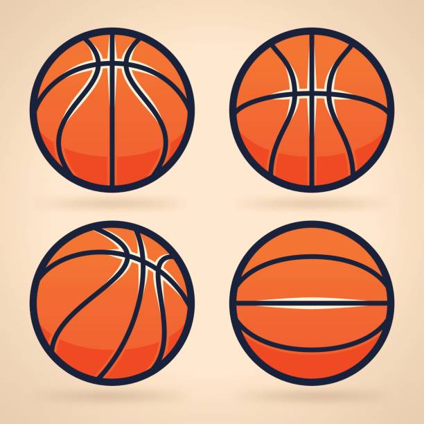 basketbälle  - basketball stock-grafiken, -clipart, -cartoons und -symbole