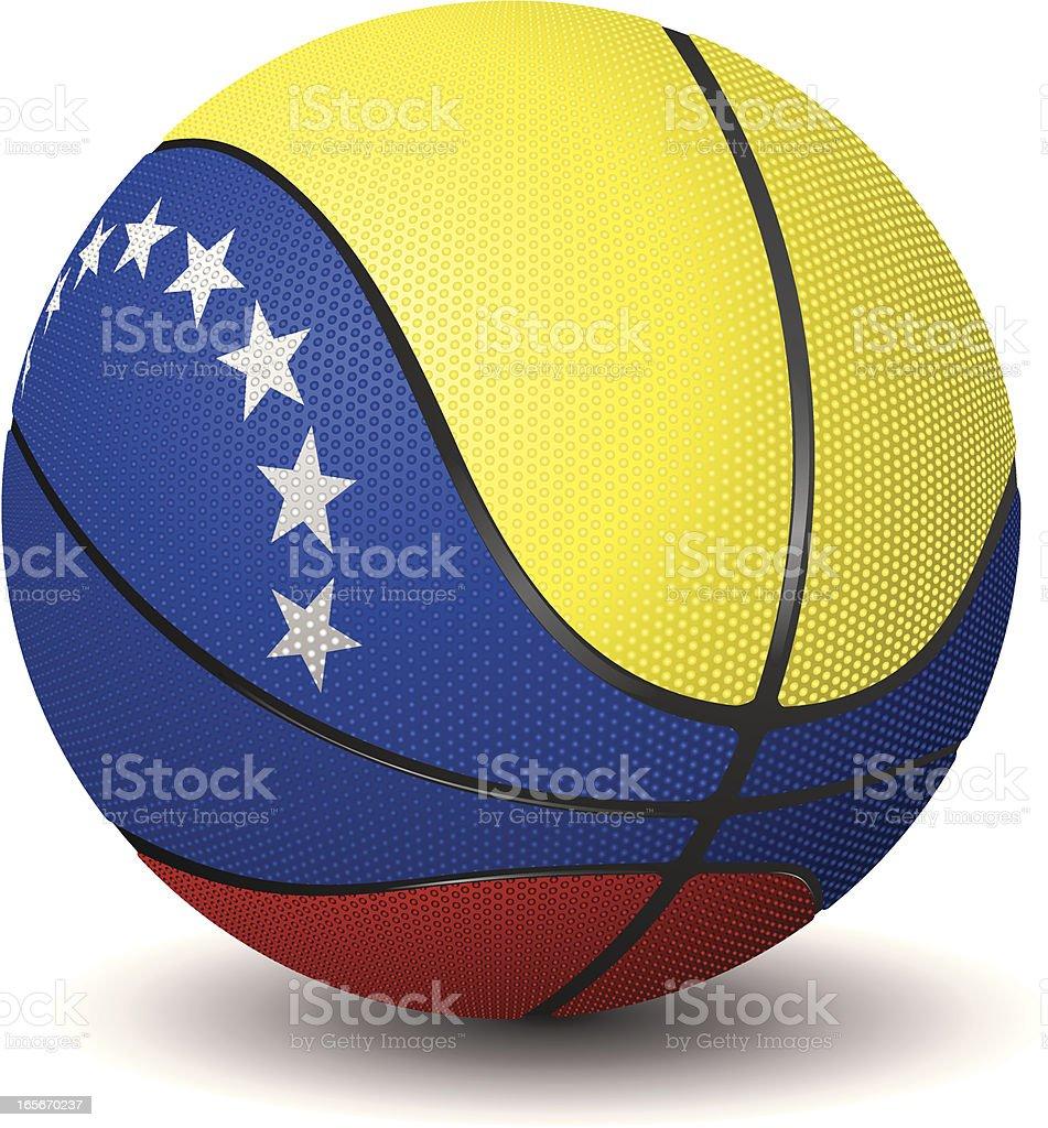 Basketball-Venezuela royalty-free stock vector art