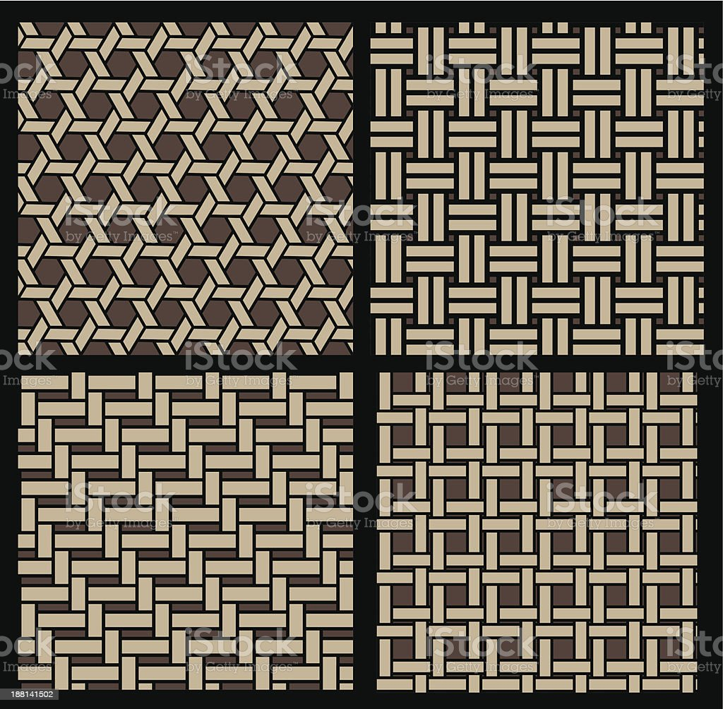basketwork pattern royalty-free stock vector art