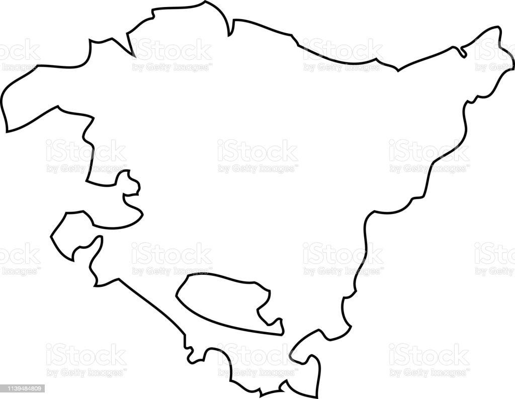 Ilustración de País Vasco Mapa De La Región De España y más Vectores Libres  de Derechos de Arte