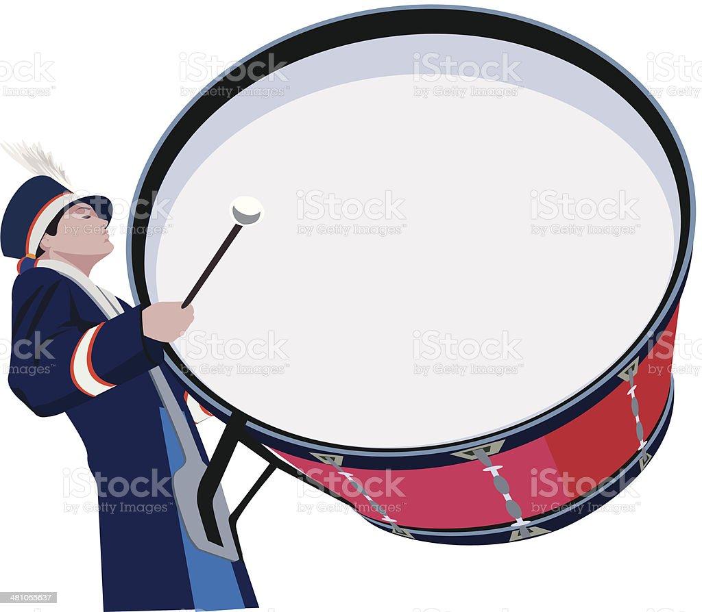 Bass Schlagzeuger C – Vektorgrafik