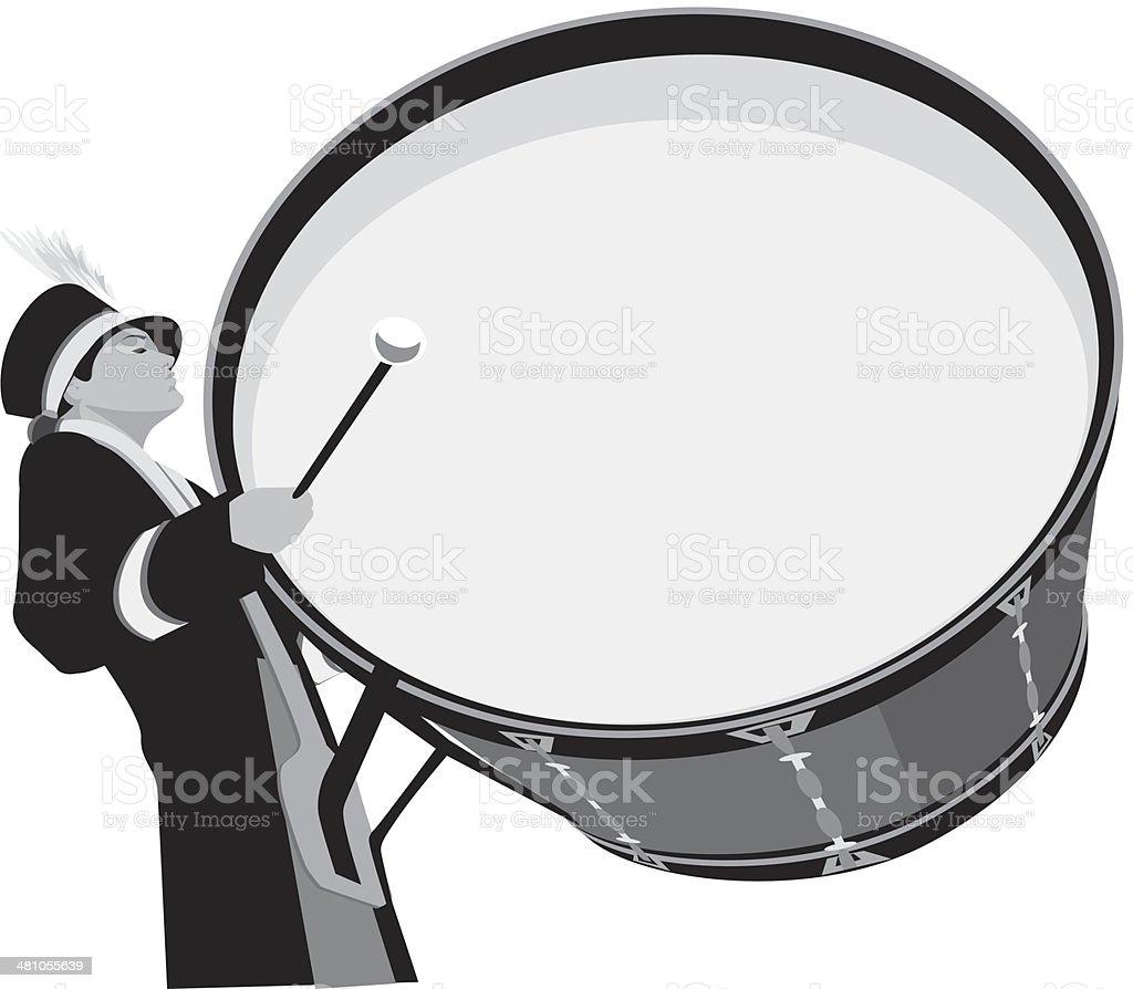 Bass Drummer – Vektorgrafik