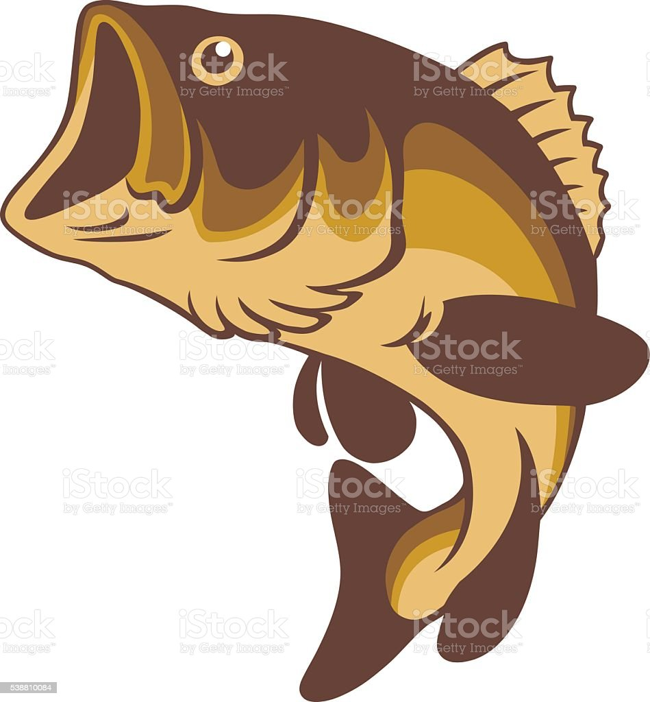 royalty free largemouth bass clip art vector images illustrations rh istockphoto com jumping bass clipart bass player clipart