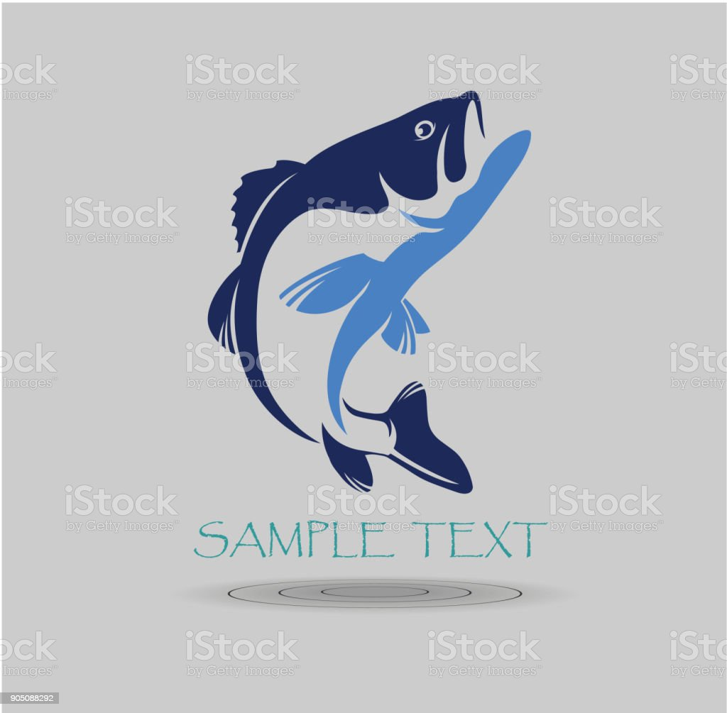 bass fish векторная иллюстрация