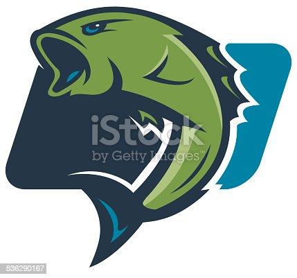 istock Bass Fishing Logo 536290167