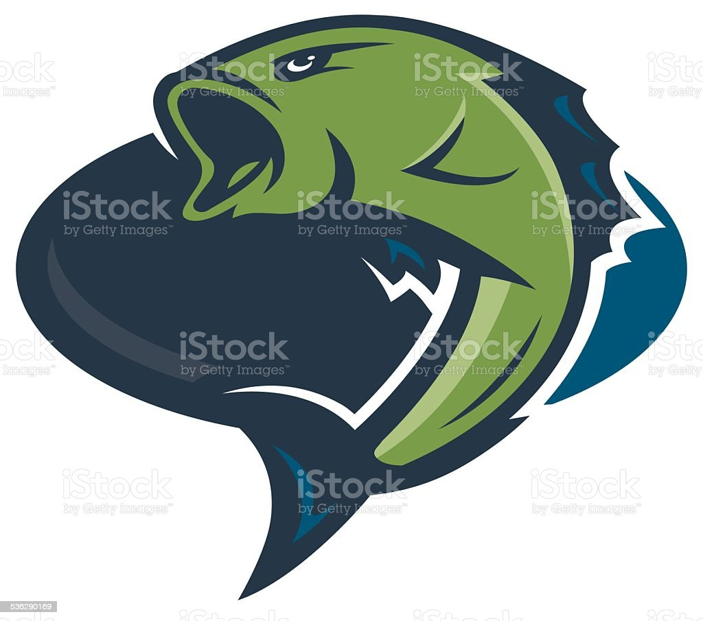 Bass Fishing Logo vector art illustration