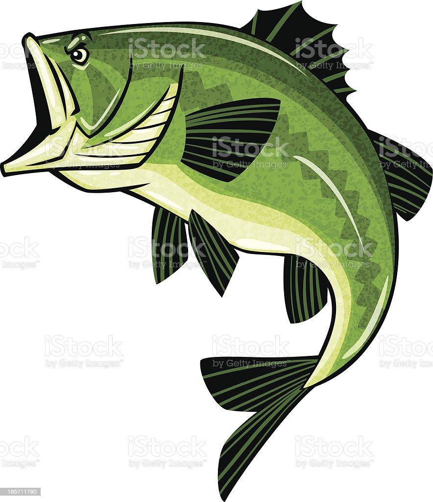 Окунь с логотипом векторная иллюстрация