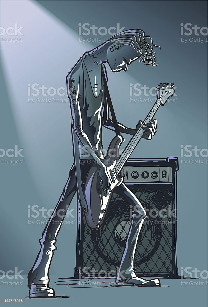 Bass player royalty-free stock vector art
