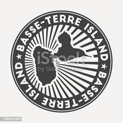 istock Basse-Terre Island round logo. 1330673484