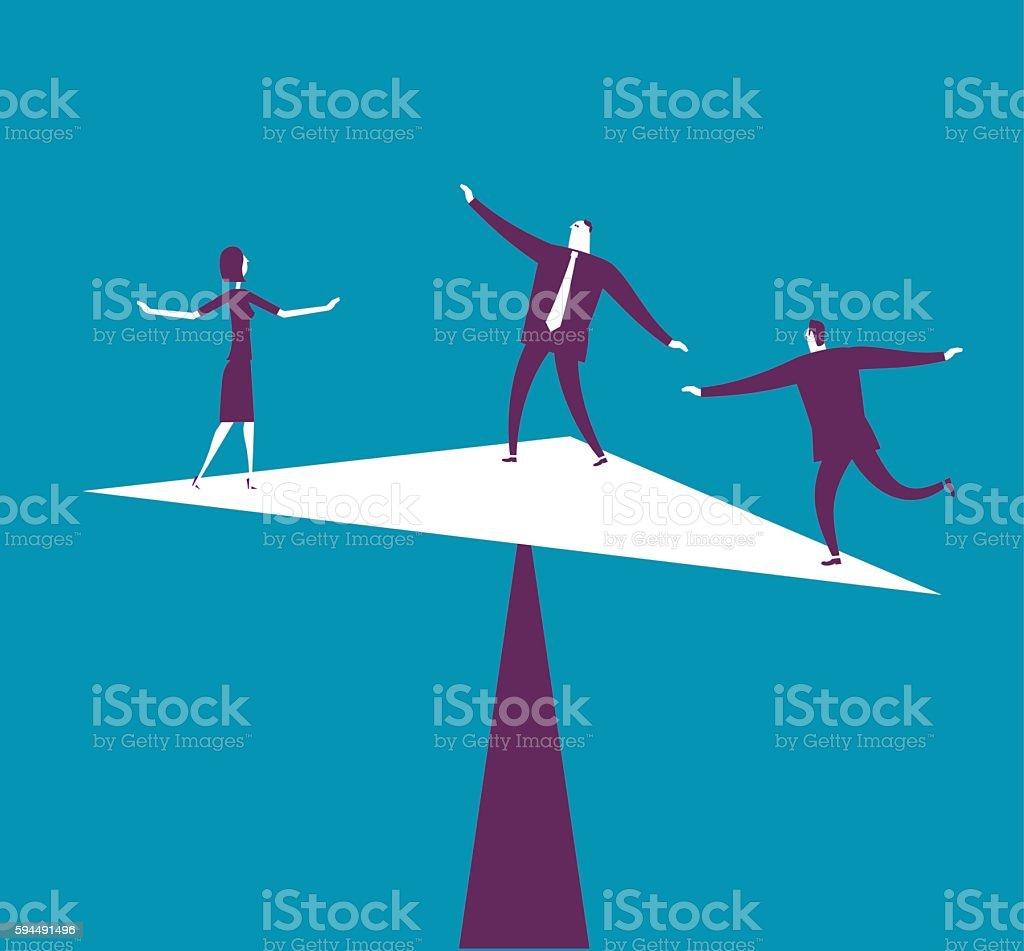 Bast Balance – Vektorgrafik