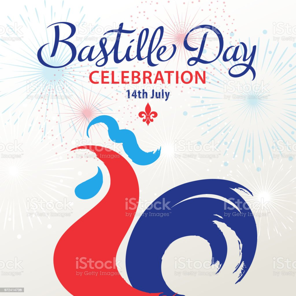 Bastille Day Celebration vector art illustration